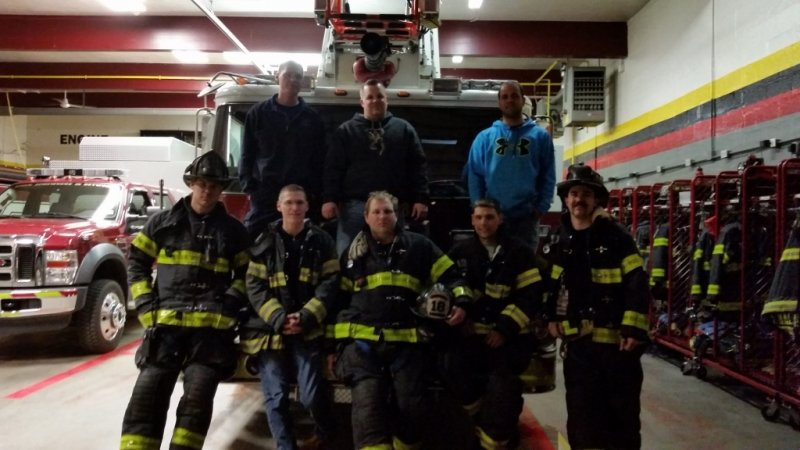 Ladder 18 Crew after a fire