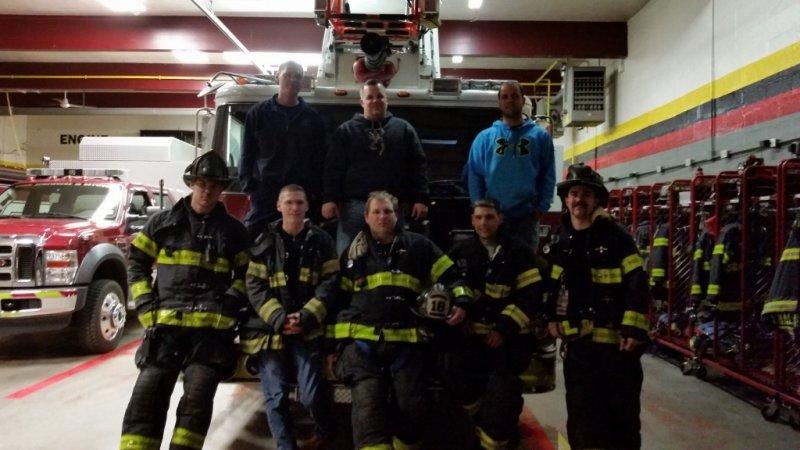 Ladder 18 Crew after a fire