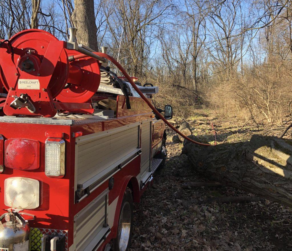 Robesonia Brush 26 on scene of brush fire