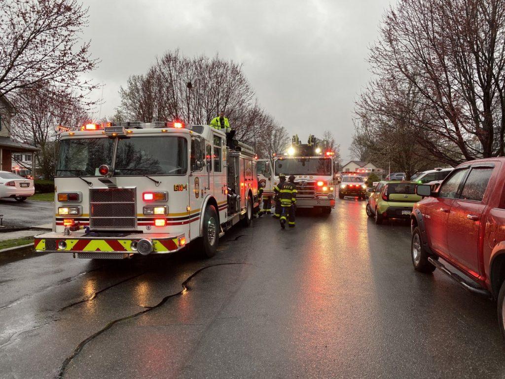 Engine 18-1 and Ladder 18 on scene
