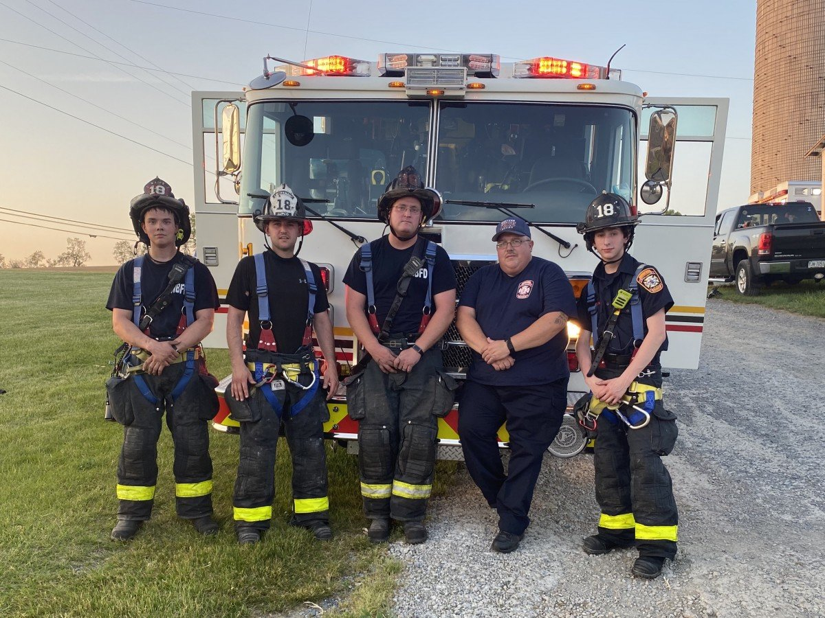 WBFD crew at Heidelberg Twp Fire